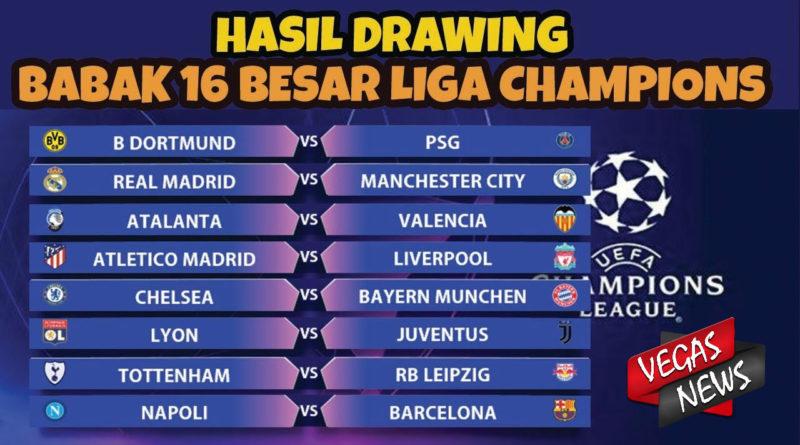 Hasil Drawing Liga Champions Madrid Vs City