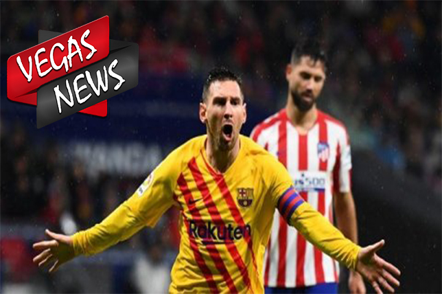 Messi Membuat kemenangan Barcelona Vs Atletico Madrid 1-0